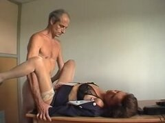 French mature old man sex