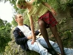 German hot outdoor sex
